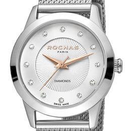 Rochas Silver Stainless Steel RP2L020M0011 Women's Wristwatch 34MM 221325