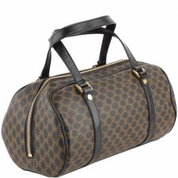 Celine Dark Brown Macadam Coated Canvas Bowling Bag 221683