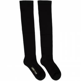 Rick Owens Black Knee-High Larry Socks 192232M22000602GB