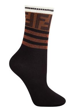 Черные носки с контрастной отделкой Fendi 1632150392