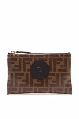 Коричневый кошелек с монограммами Fendi 1632150450
