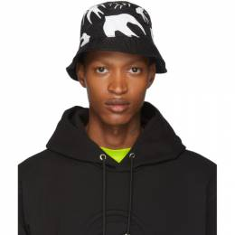 MCQ by Alexander McQueen Black Swallow Bucket Hat 192114M14000101GB