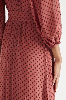 Темно-розовое платье с узором Zimmermann 1411150809
