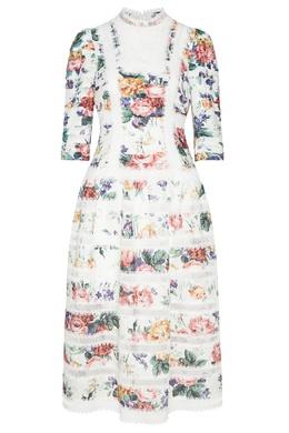 Льняное платье с цветочным принтом Zimmermann 1411150803