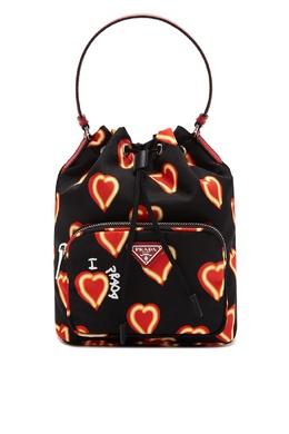 Черная сумка с принтом Prada 40150447
