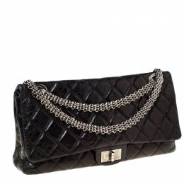 Chanel Black Quilted Leather Reissue 2.55 Classic 228 Flap Bag 222260