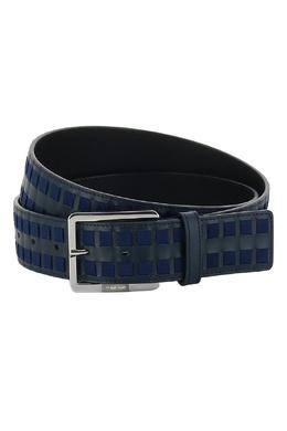 Темно-синий ремень со вставками Cortigiani 581150428