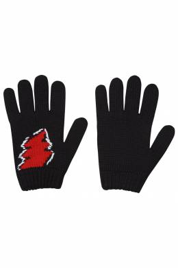 Вязаные перчатки с рисунком Prada 40150711