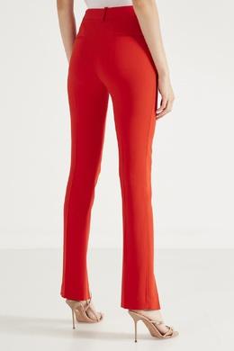 Алые трикотажные брюки с разрезами Victoria Beckham 212150867
