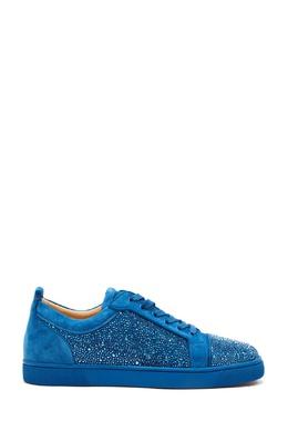 Синие кроссовки louis junior strass flat Christian Louboutin 106150589