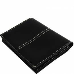 Tod's Black Leather Business Card Holder 223361