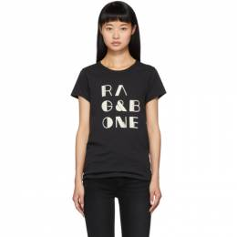 Rag&Bone Black Logo Vintage T-Shirt 192055F11003104GB