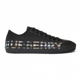 Burberry Black Larkhall Logo Sneakers 8018275