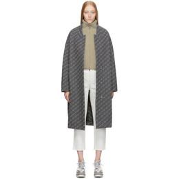Stella McCartney Grey Wool Monogram Coat 192471F05901401GB
