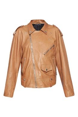 Коричневая куртка-косуха Alexander Terekhov 74150605