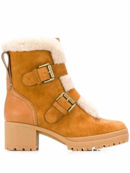 See By Chloe buckled shearling boots SB33131A