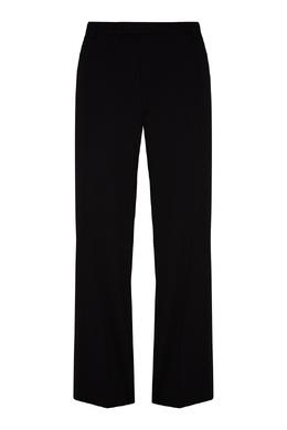 Черные брюки из шерстяной ткани Prada 40150674