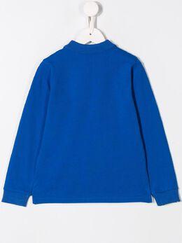 Moncler Kids - рубашка-поло с логотипом 05658563095536906000