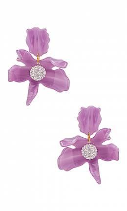 Серьги small crystal lily - Lele Sadoughi LS0625LI