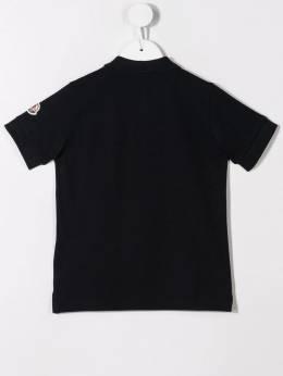 Moncler Kids - рубашка-поло с логотипом 03658563095566388000