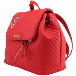 Love Moschino Red Quilted Synthetic Leather Backpack Raymond Weil 224234