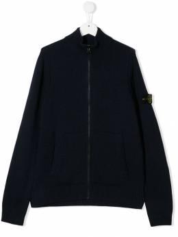 Stone Island Junior трикотажная куртка на молнии MO7116505A1