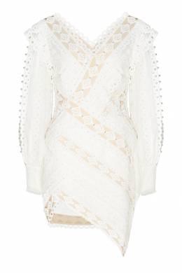 Короткое платье из кружевной ткани Zimmermann 1411150970