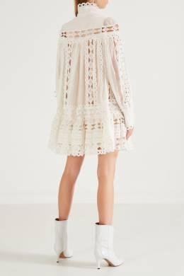 Кружевное платье с воротником-стойкой Zimmermann 1411150971