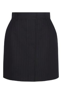 Черная юбка-мини с рисунком в полоску Sandro 914151453