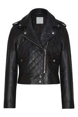 Черная куртка в байкерском стиле Sandro 914151443