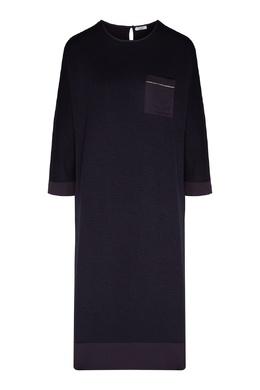 Темно-серое платье с накладным карманом Peserico 1501151901
