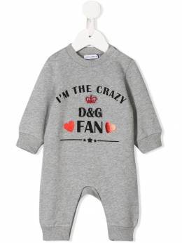 Dolce & Gabbana Kids - боди I'm The Crazy Fan OP3G3TDD955866980000