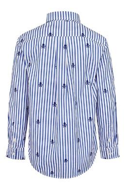 Рубашка в полоску Ralph Lauren Kids 1252151636