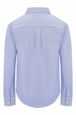 Голубая рубашка с вышитым логотипом Ralph Lauren Kids 1252151629