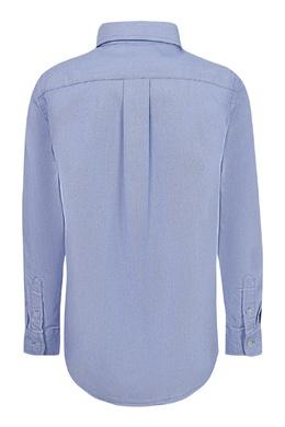 Голубая рубашка с вышивкой Ralph Lauren Kids 1252151628