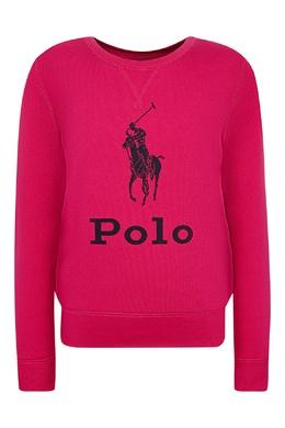 Розовый свитшот с логотипом Ralph Lauren Kids 1252151620
