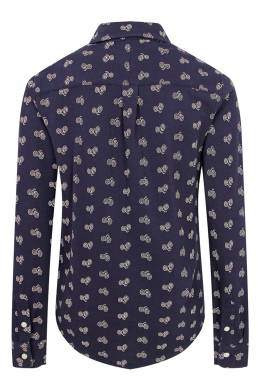 Синяя рубашка с принтом Ralph Lauren Kids 1252151627