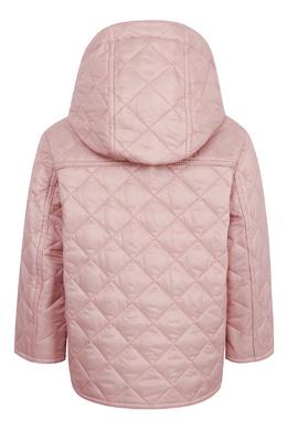 Стеганая куртка пудрово-розового оттенка Burberry Kids 1253151717
