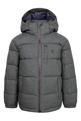 Серая куртка с капюшоном Ralph Lauren Kids 1252151714