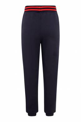 Темно-синие брюки-джоггеры с отделкой Ralph Lauren Kids 1252151761