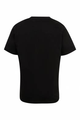 Черная футболка с контрастным логотипом Burberry Kids 1253151754