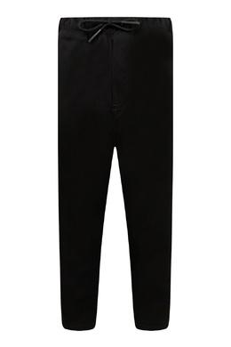 Черные брюки-джоггеры с лампасами Burberry Kids 1253151720