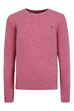 Свитер из розового меланжа Ralph Lauren Kids 1252151915