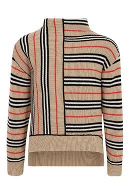 """Бежевый свитер """"Burberry"""" в полоску Burberry Kids 1253151918"""