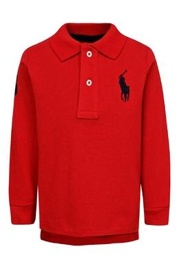Красное поло с логотипом Ralph Lauren Kids 1252151731