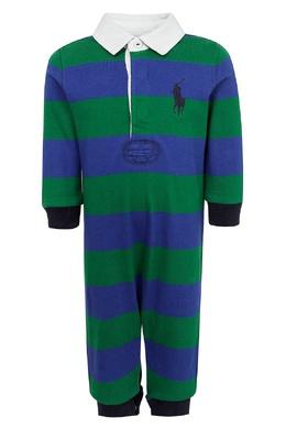Сине-зеленый комбинезон Ralph Lauren Kids 1252151909