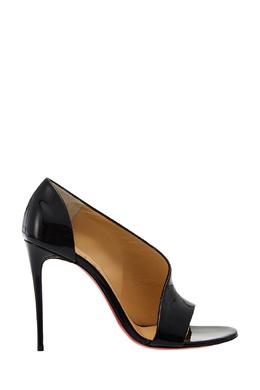 Черные лакированные туфли Phoebe 100 Christian Louboutin 10685361