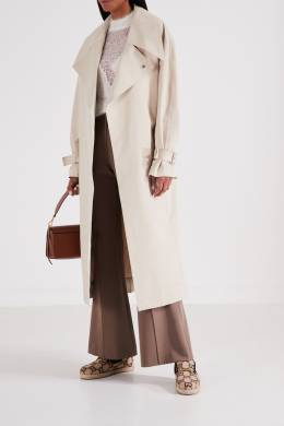 Текстильные слипоны Fria с монограммой Gucci 470151645