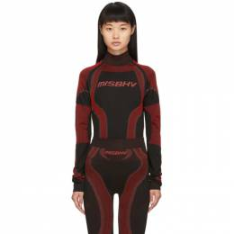 Misbhv SSENSE Exclusive Black and Red Active Turtleneck 192937F09902302GB