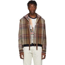 Lanvin Brown Tweed Short Jacket 192254M18000302GB